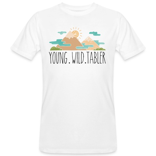 young.wild.tabler - Männer Bio-T-Shirt