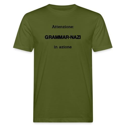 Attenzione: Grammar-nazi in azione - T-shirt ecologica da uomo