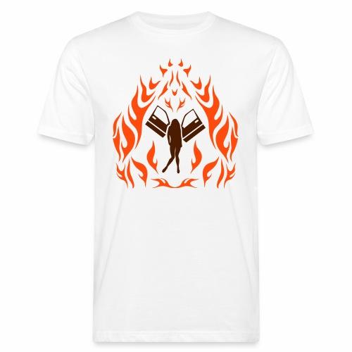 Engel / Flammen - Männer Bio-T-Shirt