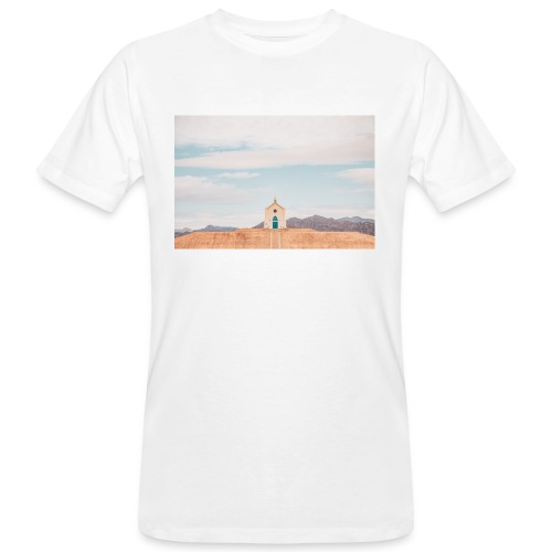 Church on a hill - Männer Bio-T-Shirt
