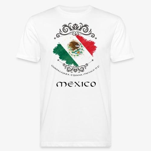 Mexico Vintage Bandera - Männer Bio-T-Shirt
