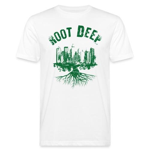 Root deep Urban grün - Männer Bio-T-Shirt