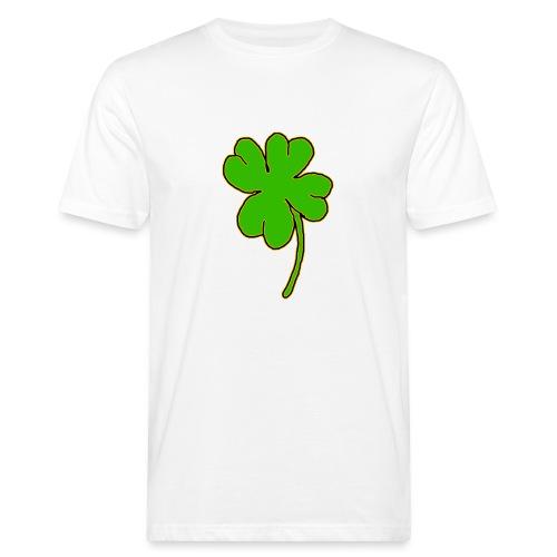 Leprechaun's Kleeblatt - Männer Bio-T-Shirt