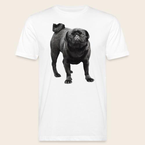 schwarzer Mops - Männer Bio-T-Shirt