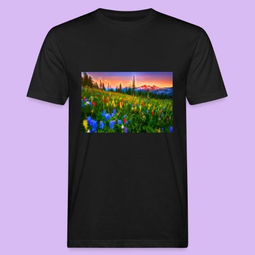 Bagliori in montagna - T-shirt ecologica da uomo