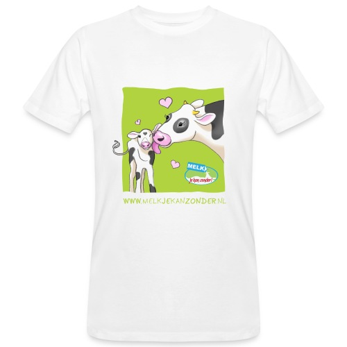 Moeder en kalfje - Mannen Bio-T-shirt