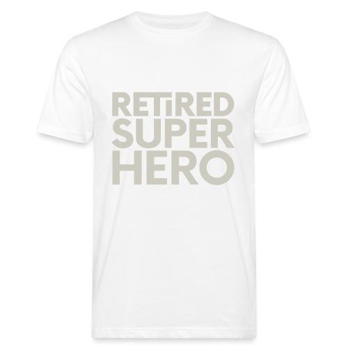 retired superhero - Men's Organic T-Shirt