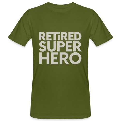 retired superhero - Men's Organic T-Shirt
