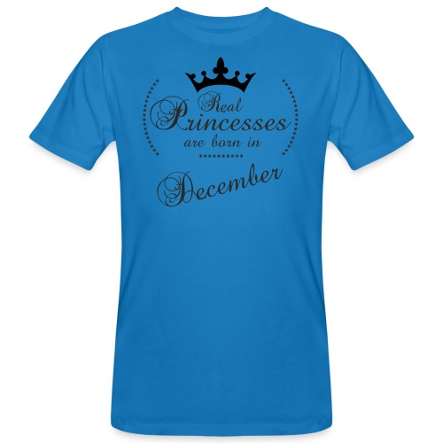 Real Princesses black December - Männer Bio-T-Shirt