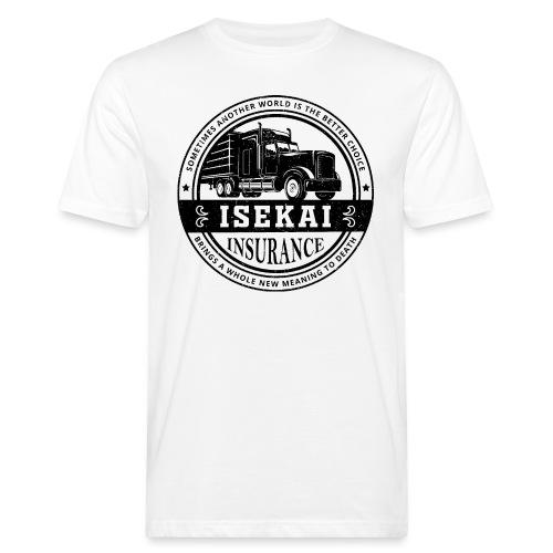 Funny Anime Shirt Isekai insurance Co. - Black - Mannen Bio-T-shirt