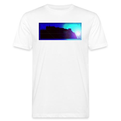 Silhouette of Edinburgh Castle - Men's Organic T-Shirt