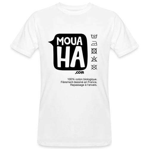 MOUAHA étiquette - T-shirt bio Homme