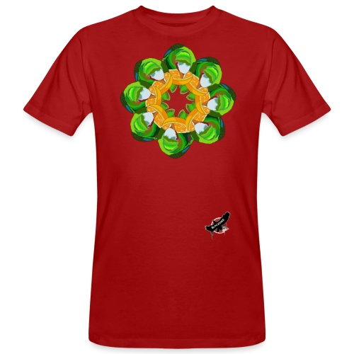 Parrot Pattern by BlackenedMoonArts, w. logo - Organic mænd