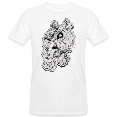 Icecream Haloween Vintage - Männer Bio-T-Shirt