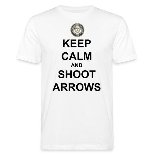Keep Calm And Shoot Arrows - Svart Text - Ekologisk T-shirt herr