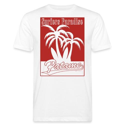 Patame Surfers Paradise Red - Männer Bio-T-Shirt