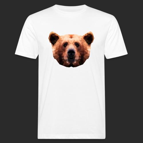 Low-Poly Bear - Männer Bio-T-Shirt