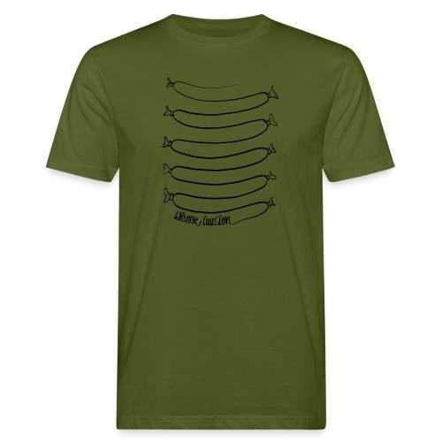 Wiener Illusion (schwarz auf weiß) - Männer Bio-T-Shirt