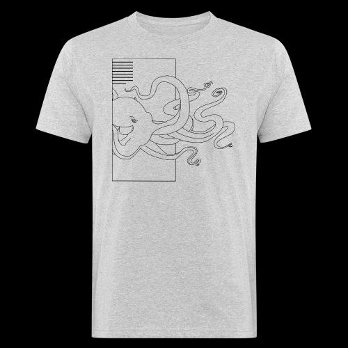 Tintenfisch-Logo Schwarz - Männer Bio-T-Shirt