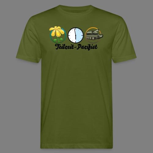 Teilzeit-Pazifist - Männer Bio-T-Shirt