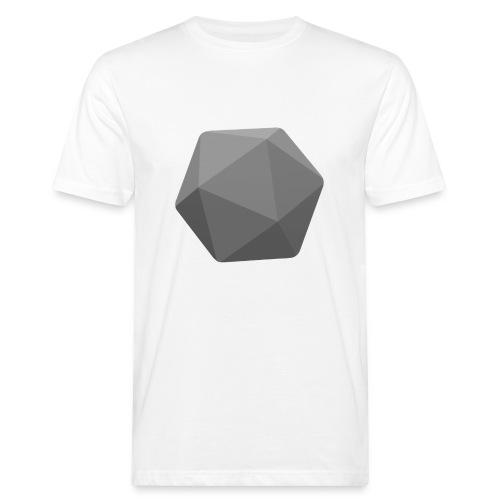 Harmaa d20 - D&D Dungeons ja lohikäärmeet dnd - Miesten luonnonmukainen t-paita