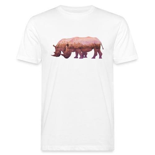 Nashorn Alpen - Männer Bio-T-Shirt