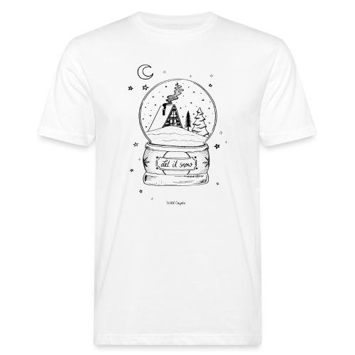 Winter Schnee Bild Kinder Liebe Weihnachten Hütte - Männer Bio-T-Shirt