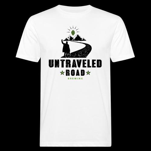 Untraveled Road Logo - schwarz/grün - Männer Bio-T-Shirt