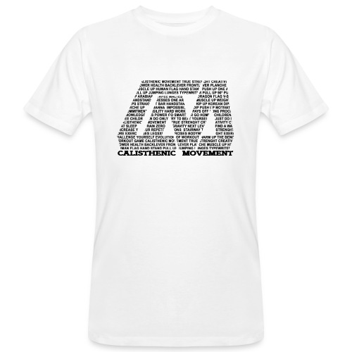 CM Logo aus Text schwarz - Männer Bio-T-Shirt