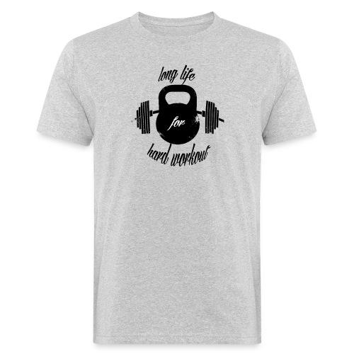 long life for wokrout - T-shirt ecologica da uomo
