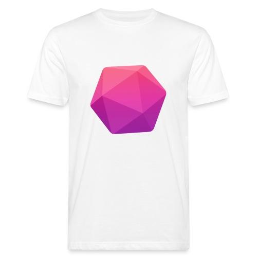 Pink D20 - D&D Dungeons and dragons dnd - Miesten luonnonmukainen t-paita