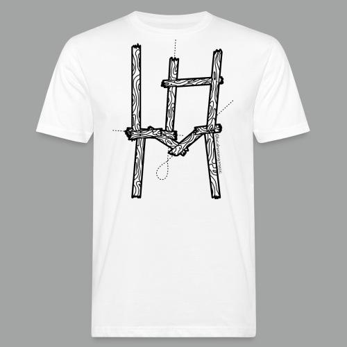 Wooden LHM Logo - Männer Bio-T-Shirt