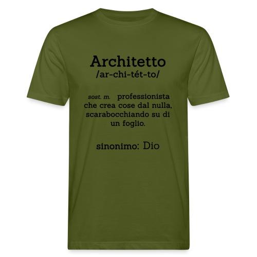 Architetto definizione - Sinonimo Dio - nero - T-shirt ecologica da uomo