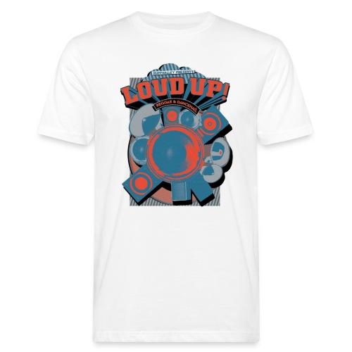 Tshirt Loudup1 blau rot png - Männer Bio-T-Shirt