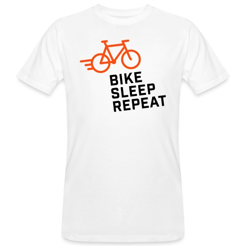 Bike Sleep Repeat - Männer Bio-T-Shirt