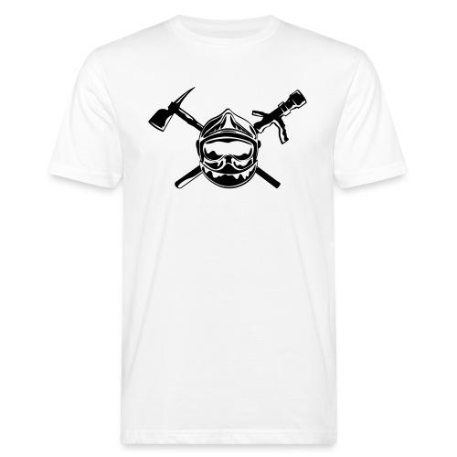 casque_pompier_hache et lance - T-shirt bio Homme