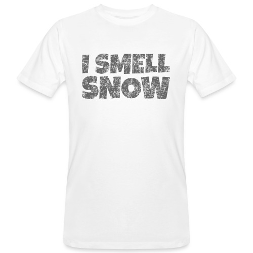 I Smell Snow (Dunkelgrau) Schnee, Wintersport, Ski - Männer Bio-T-Shirt