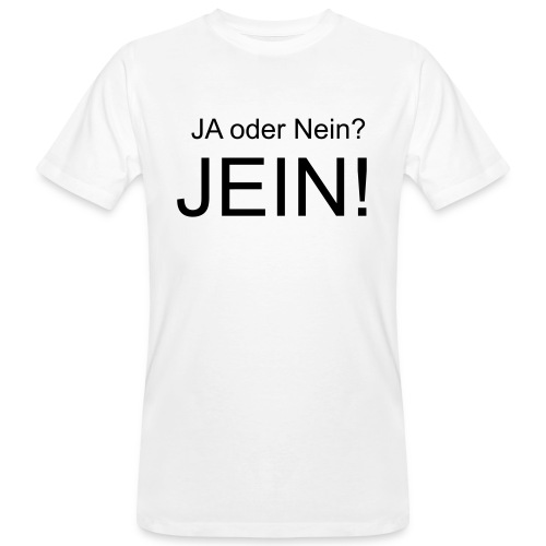 JEIN! - Männer Bio-T-Shirt