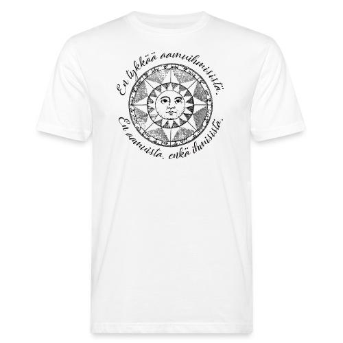 En tykkää aamuihmisistä en aamuista enkä ihmisistä - Miesten luonnonmukainen t-paita
