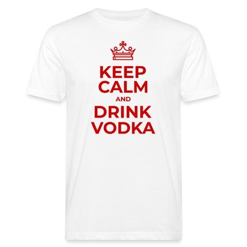 Keep calm and drink vodka (Rot) - Männer Bio-T-Shirt
