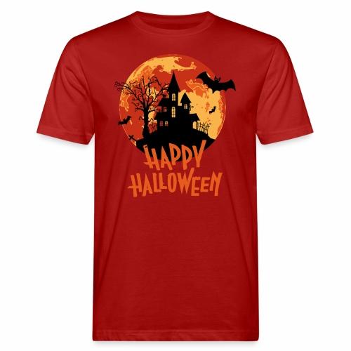 Bloodmoon Haunted House Halloween Design - Männer Bio-T-Shirt