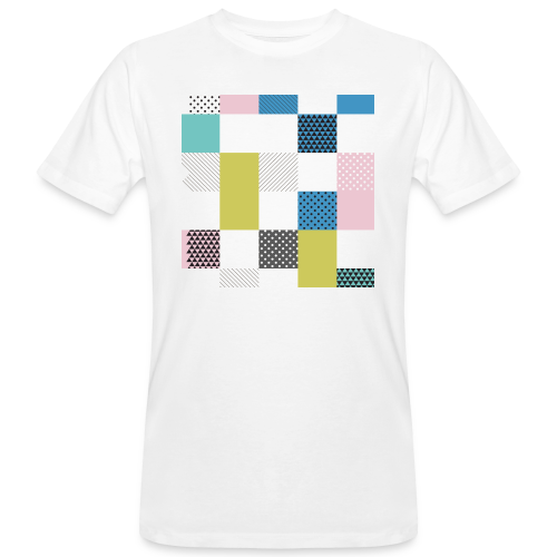 Abstract art squares - Men's Organic T-Shirt