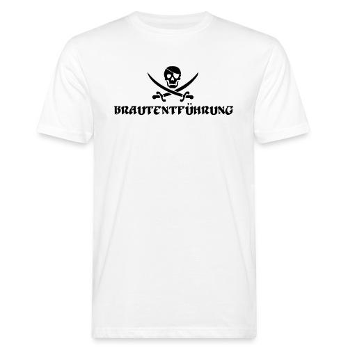 Brautentführung Piratenflagge Junggesellinnen - Männer Bio-T-Shirt