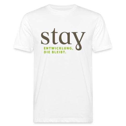 Stay_Grau_RGB - Männer Bio-T-Shirt
