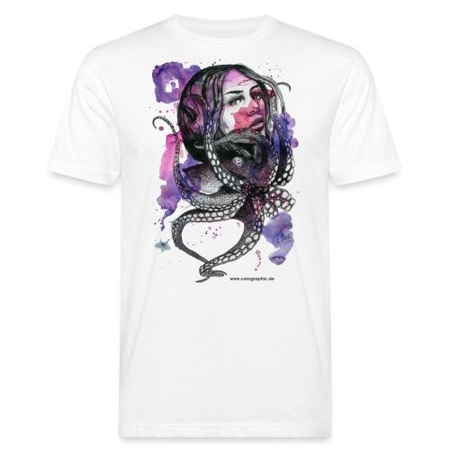 octopus oktopus portrait by carographic - Männer Bio-T-Shirt