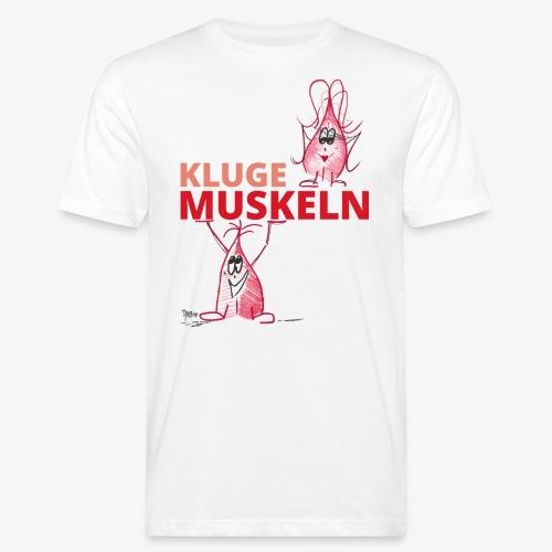 Kluge Muskeln - Männer Bio-T-Shirt