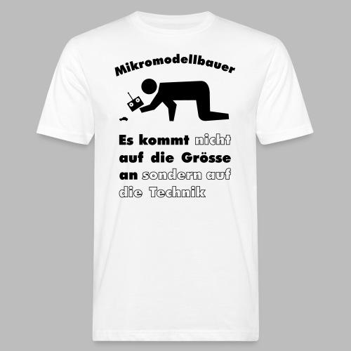 Mikromodellbau Weisheit - Männer Bio-T-Shirt
