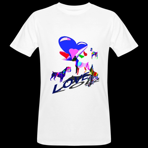 look at these dogs love - T-shirt bio Homme