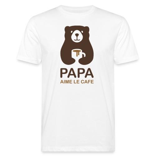 Papa aime le café - T-shirt bio Homme