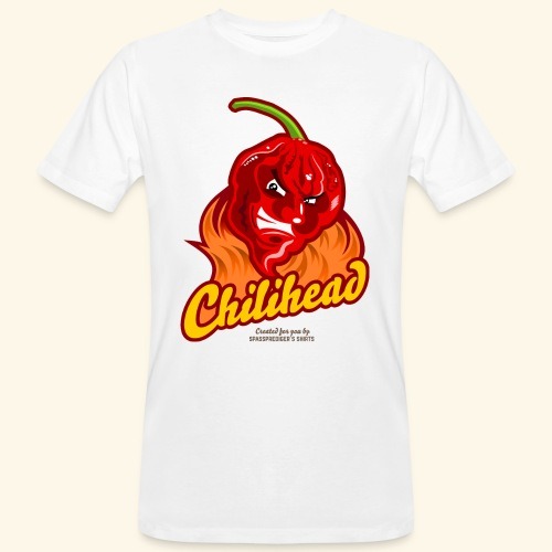 Chili Design Cartoon Chilihead | Grill T-Shirts - Männer Bio-T-Shirt
